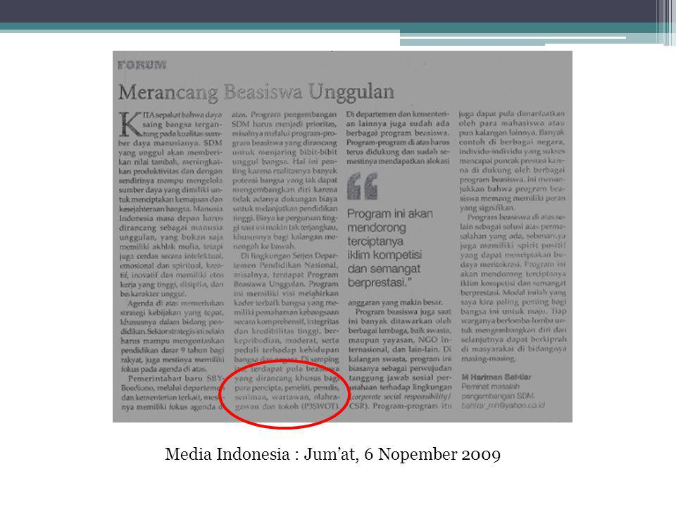 Media Indonesia : Jum'at, 6 Nopember 2009
