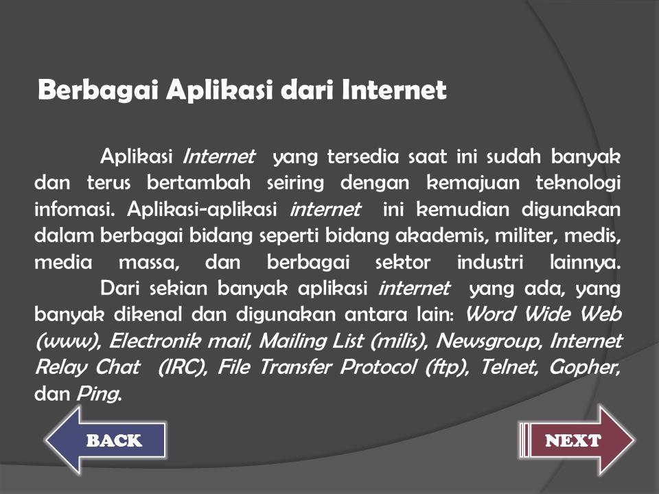 Berbagai Aplikasi dari Internet