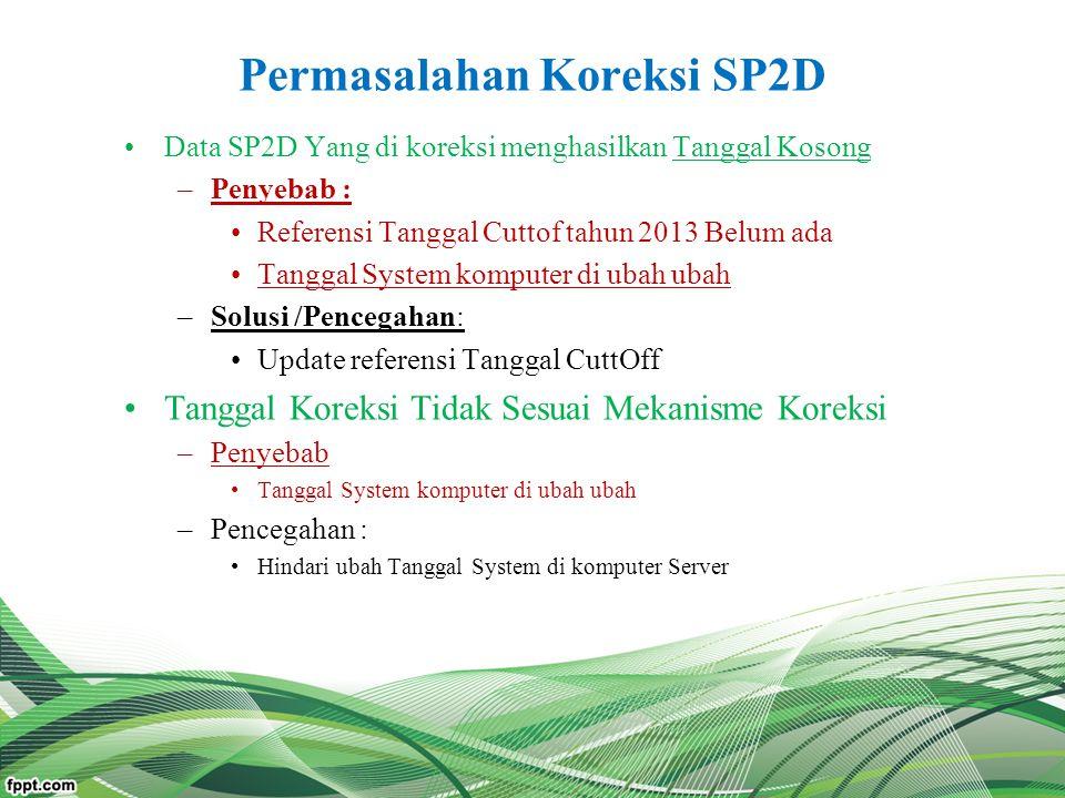 Permasalahan Koreksi SP2D