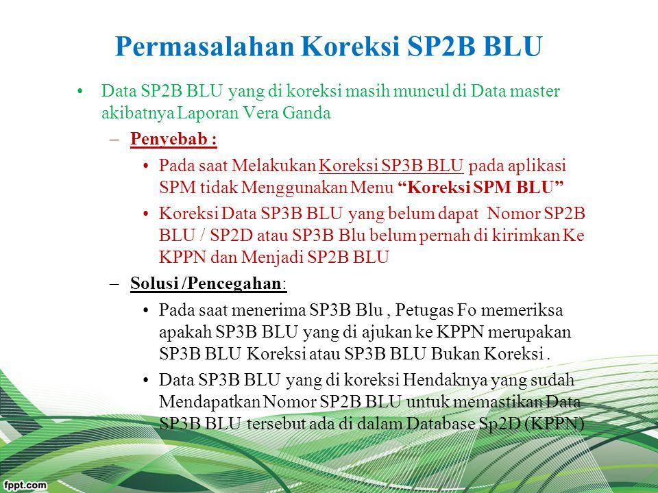 Permasalahan Koreksi SP2B BLU