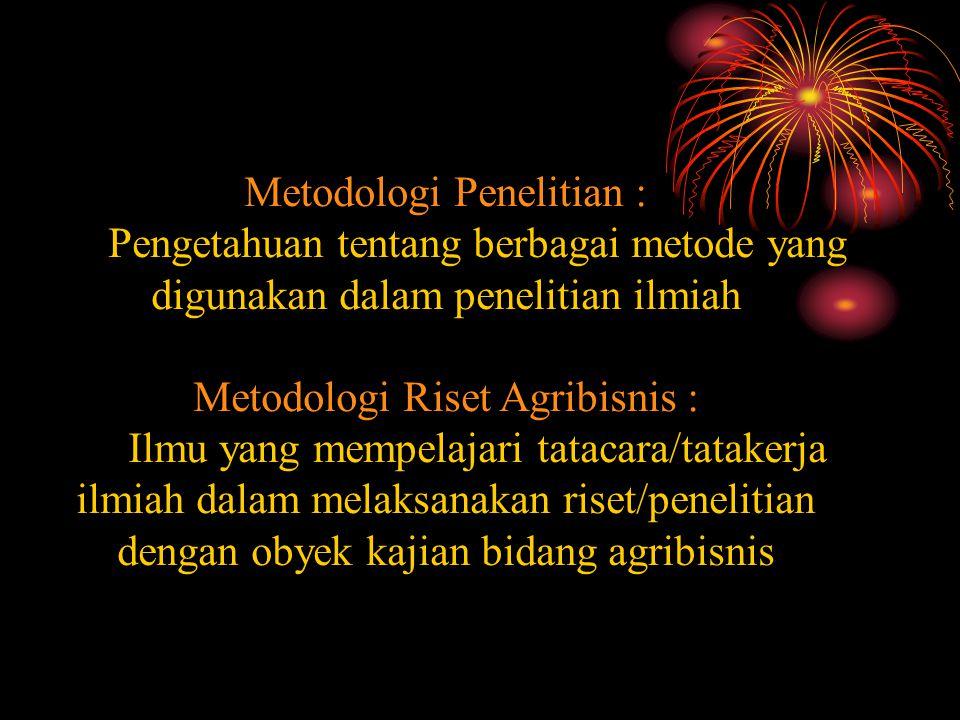 Metodologi Penelitian :