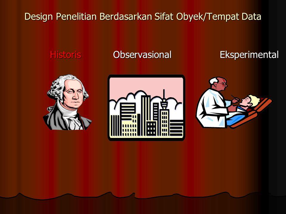 Design Penelitian Berdasarkan Sifat Obyek/Tempat Data