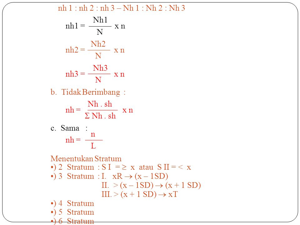 nh 1 : nh 2 : nh 3 – Nh 1 : Nh 2 : Nh 3 Nh1. nh1 = x n. N. Nh2. nh2 = x n. Nh3.