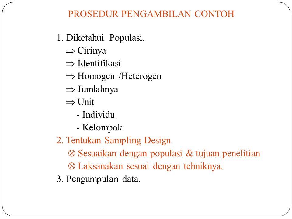 2. Tentukan Sampling Design