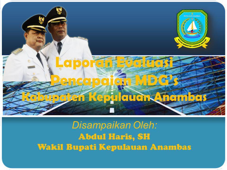 Laporan Evaluasi Pencapaian MDG's Kabupaten Kepulauan Anambas