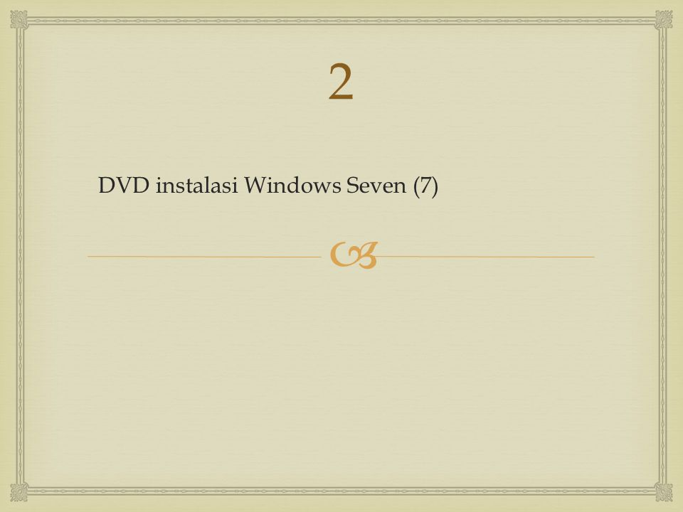 2 DVD instalasi Windows Seven (7)