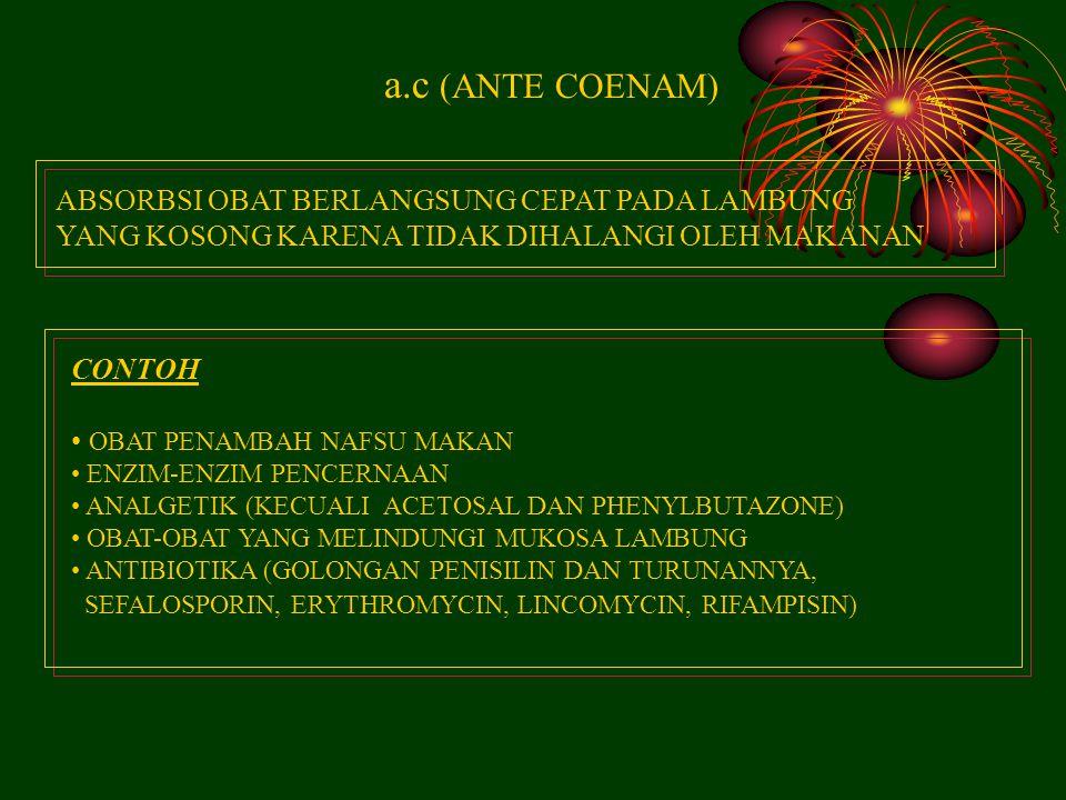 a.c (ANTE COENAM) ABSORBSI OBAT BERLANGSUNG CEPAT PADA LAMBUNG