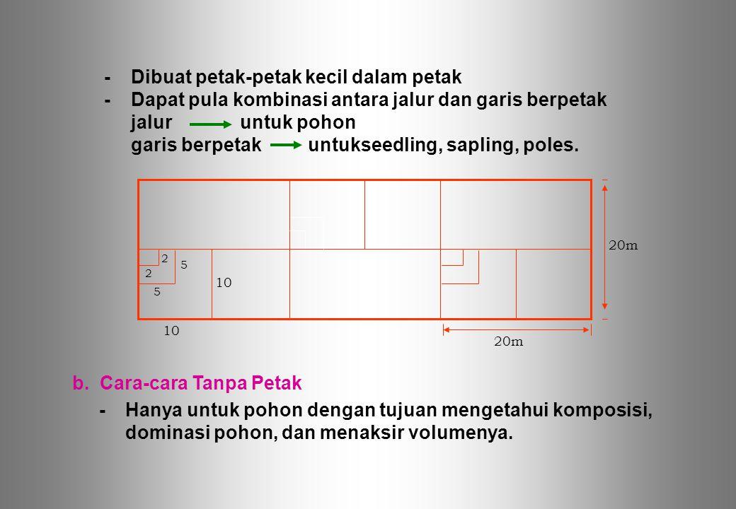 b. Cara-cara Tanpa Petak