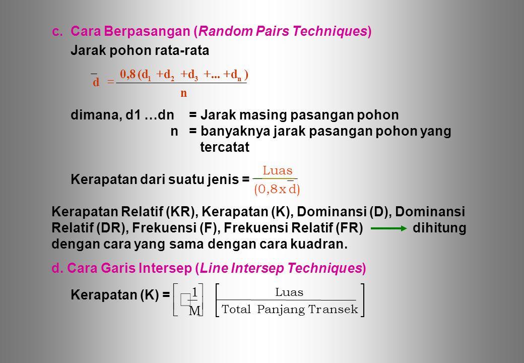 c. Cara Berpasangan (Random Pairs Techniques)
