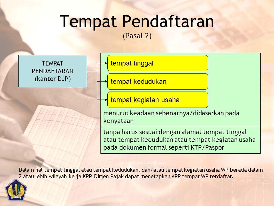 Tempat Pendaftaran (Pasal 2)