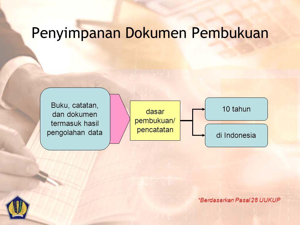 Penyimpanan Dokumen Pembukuan
