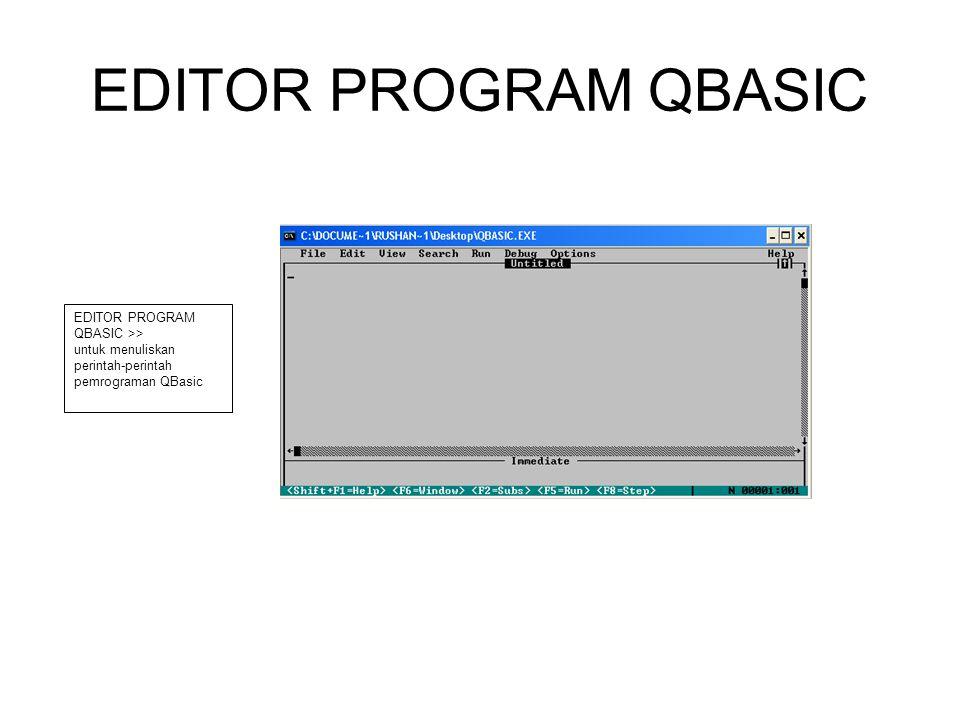 EDITOR PROGRAM QBASIC EDITOR PROGRAM QBASIC >>