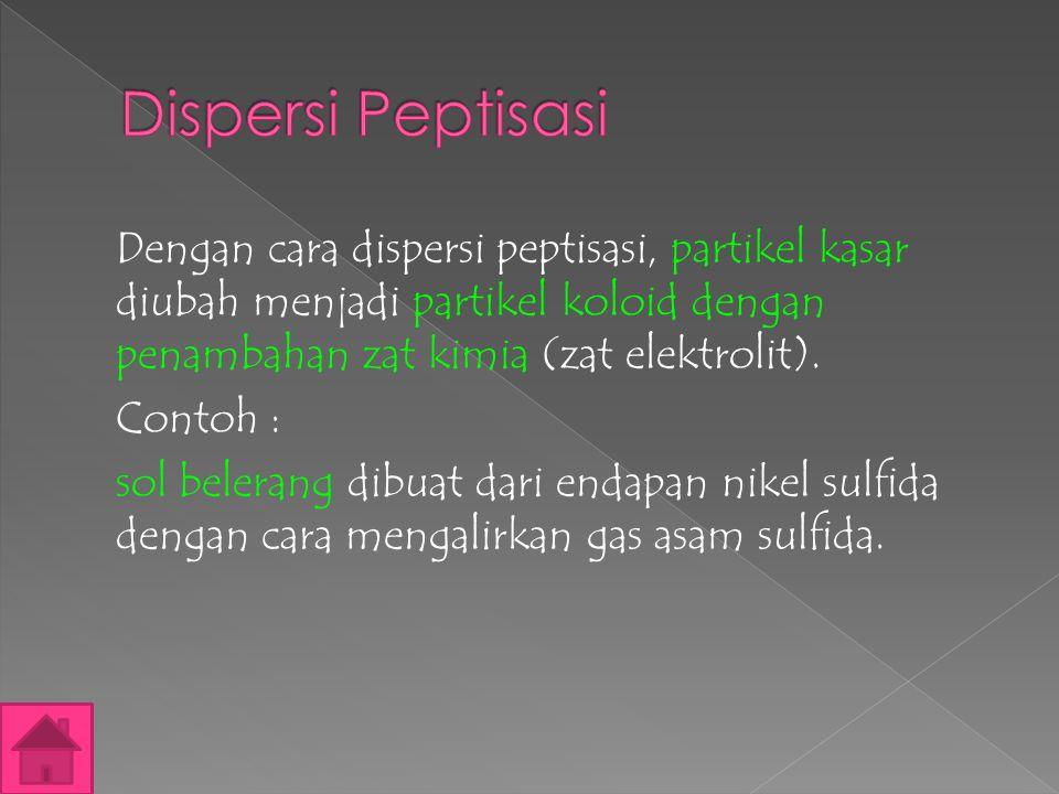 Dispersi Peptisasi