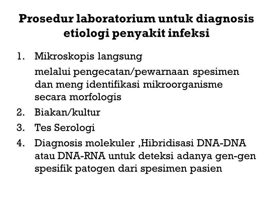 Prosedur laboratorium untuk diagnosis etiologi penyakit infeksi