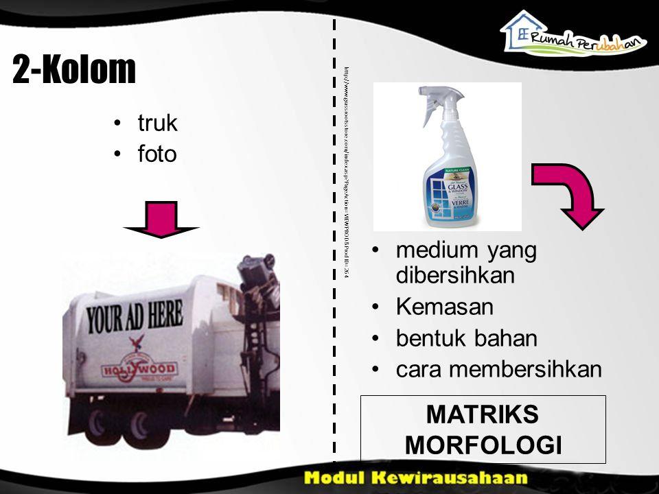 2-Kolom MATRIKS MORFOLOGI truk foto medium yang dibersihkan Kemasan