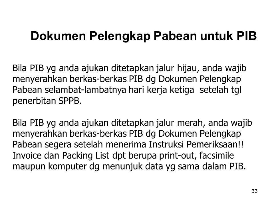 Dokumen Pelengkap Pabean untuk PIB
