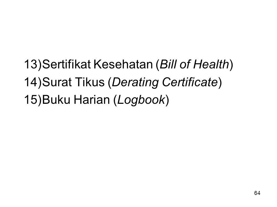Sertifikat Kesehatan (Bill of Health)