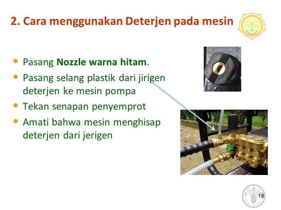 2. Cara menggunakan Deterjen pada mesin