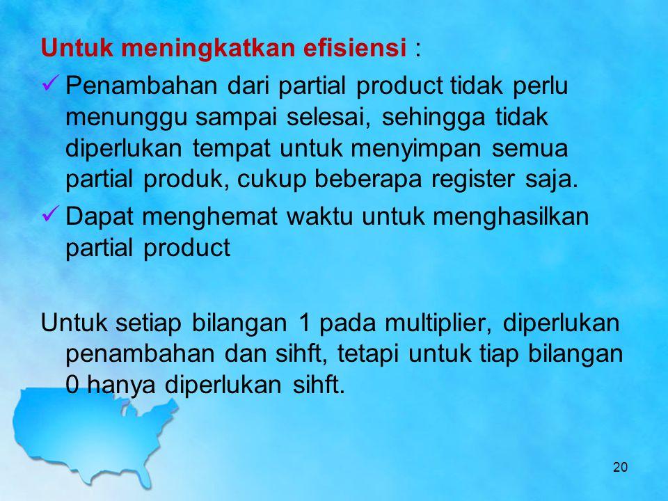 Untuk meningkatkan efisiensi :