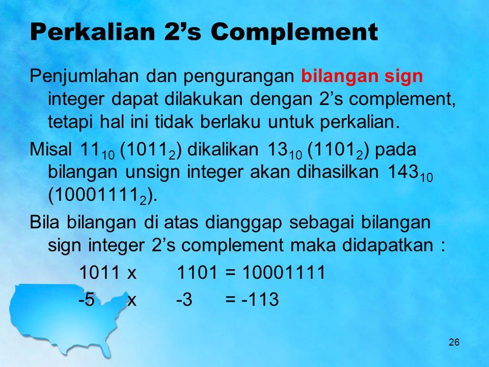 Perkalian 2's Complement