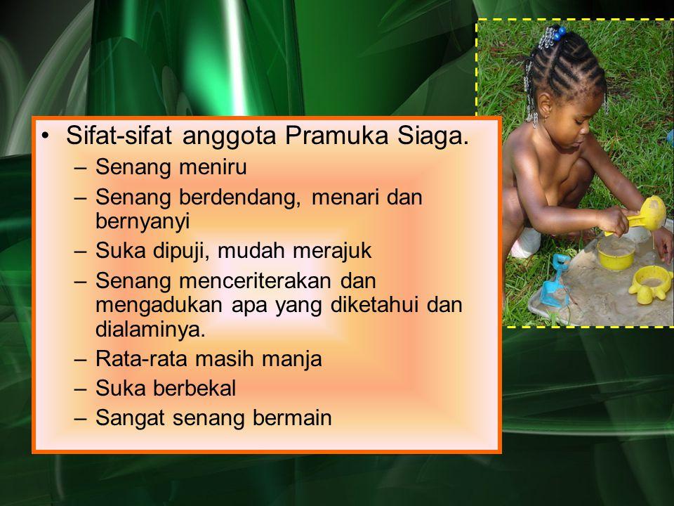 Sifat-sifat anggota Pramuka Siaga.