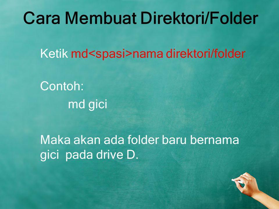 Cara Membuat Direktori/Folder