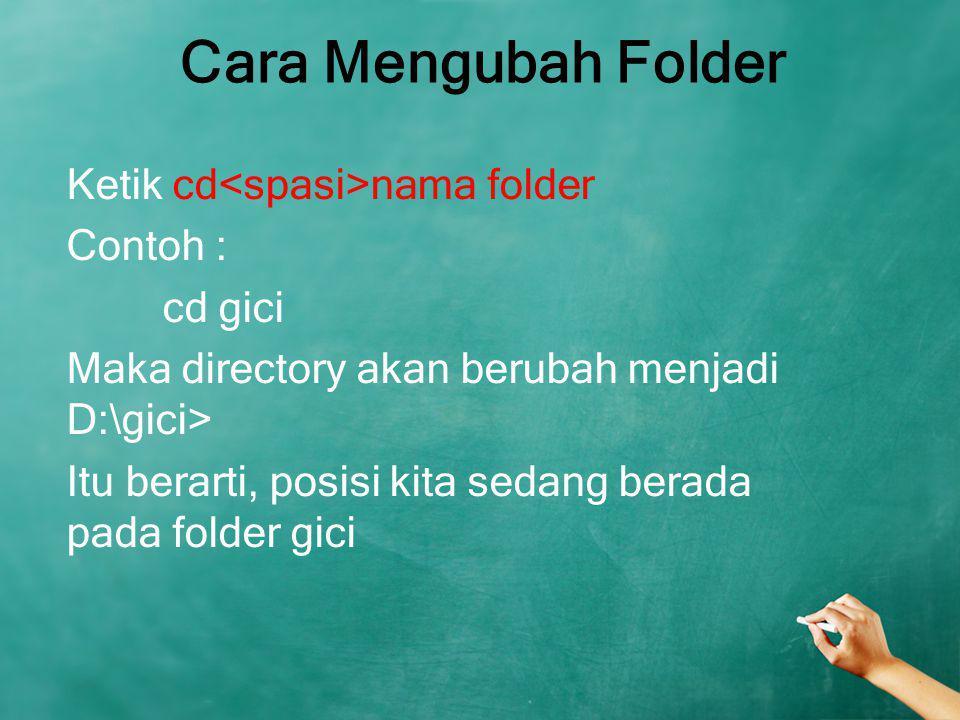 Cara Mengubah Folder