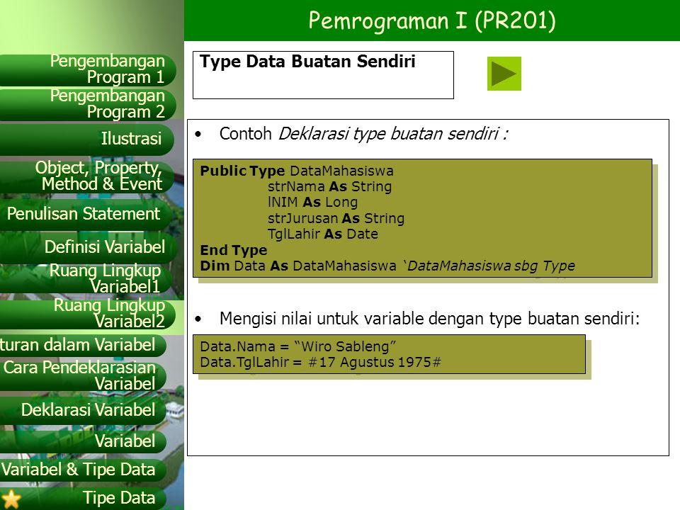 Type Data Buatan Sendiri