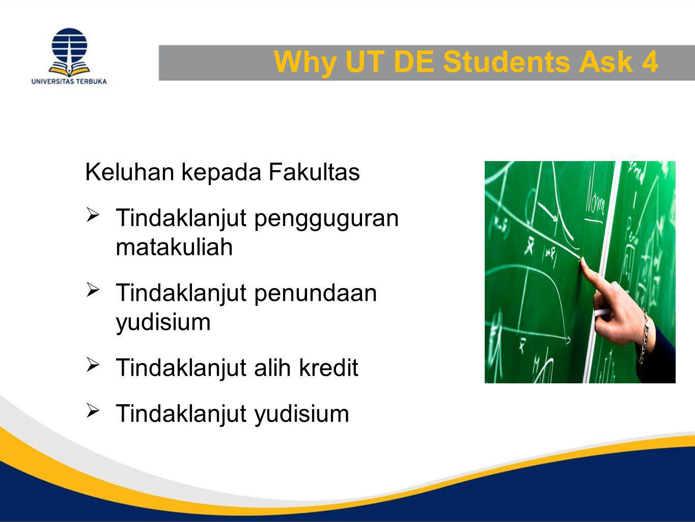 Why UT DE Students Ask 4 Keluhan kepada Fakultas