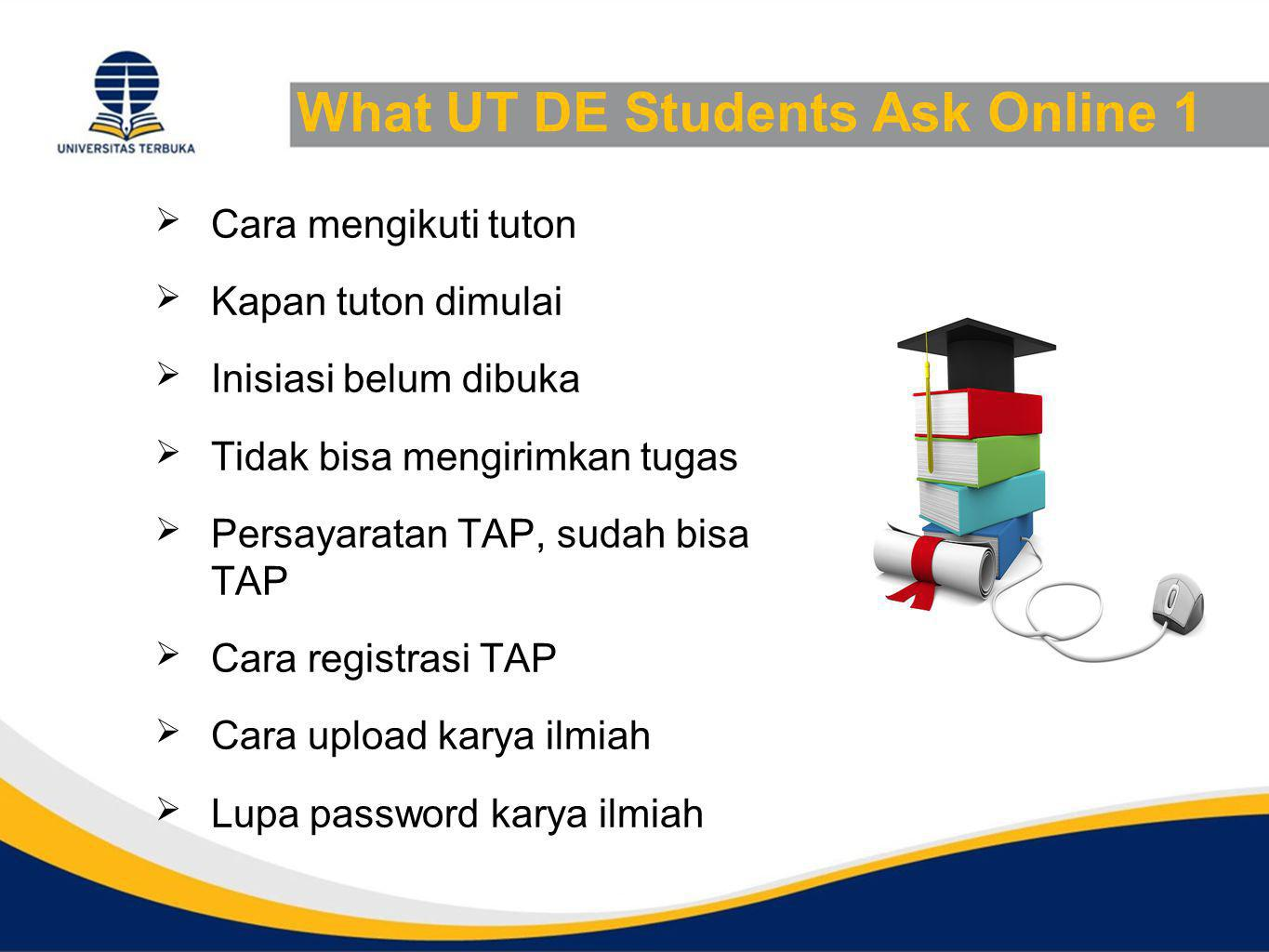 What UT DE Students Ask Online 1