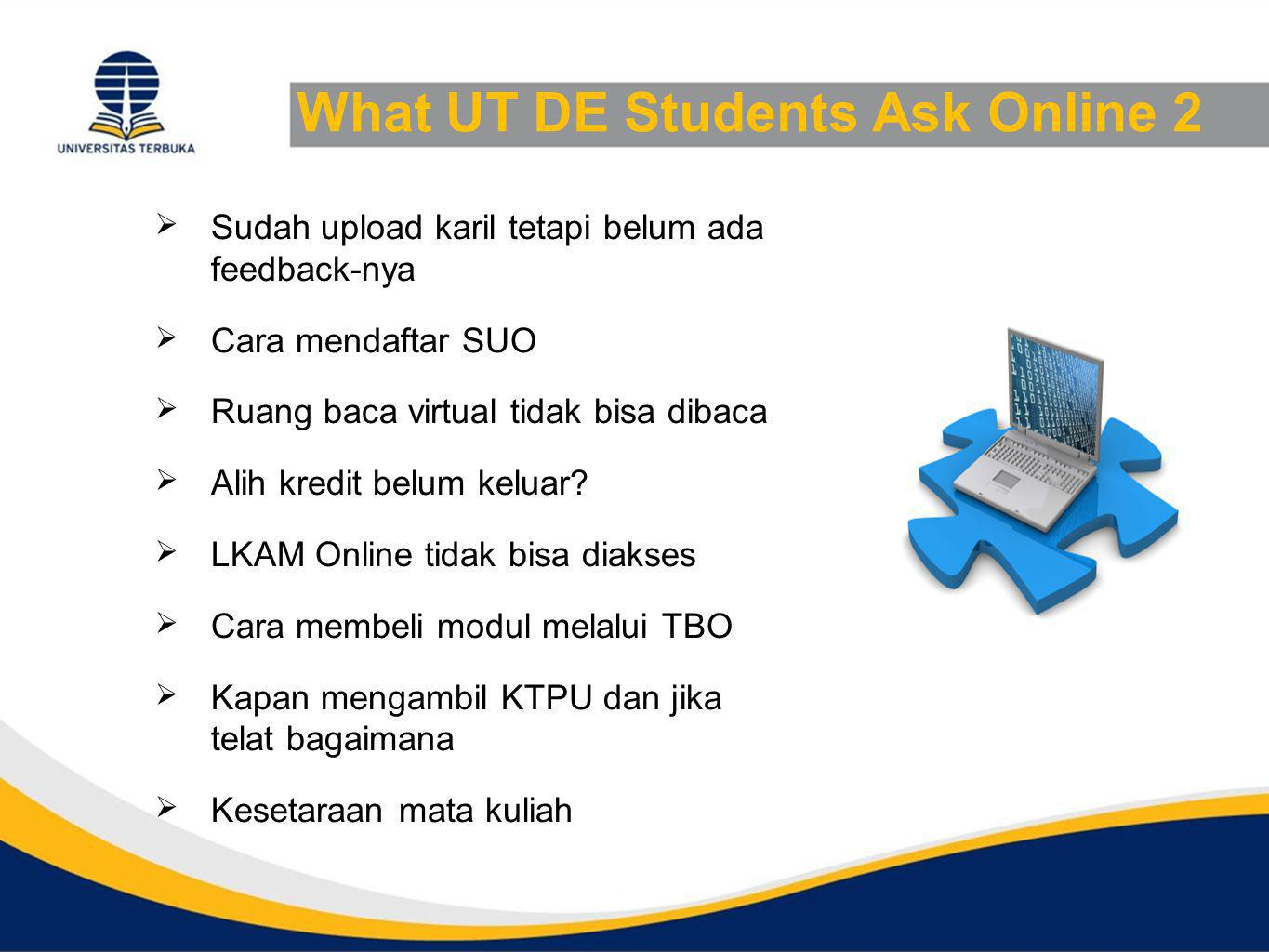 What UT DE Students Ask Online 2