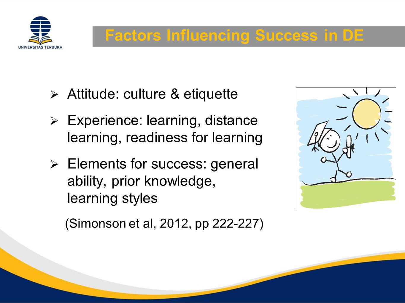 Factors Influencing Success in DE