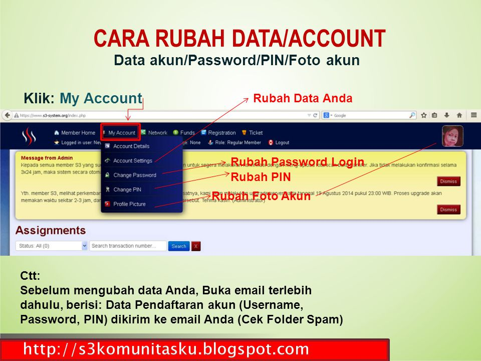 CARA RUBAH DATA/ACCOUNT Data akun/Password/PIN/Foto akun
