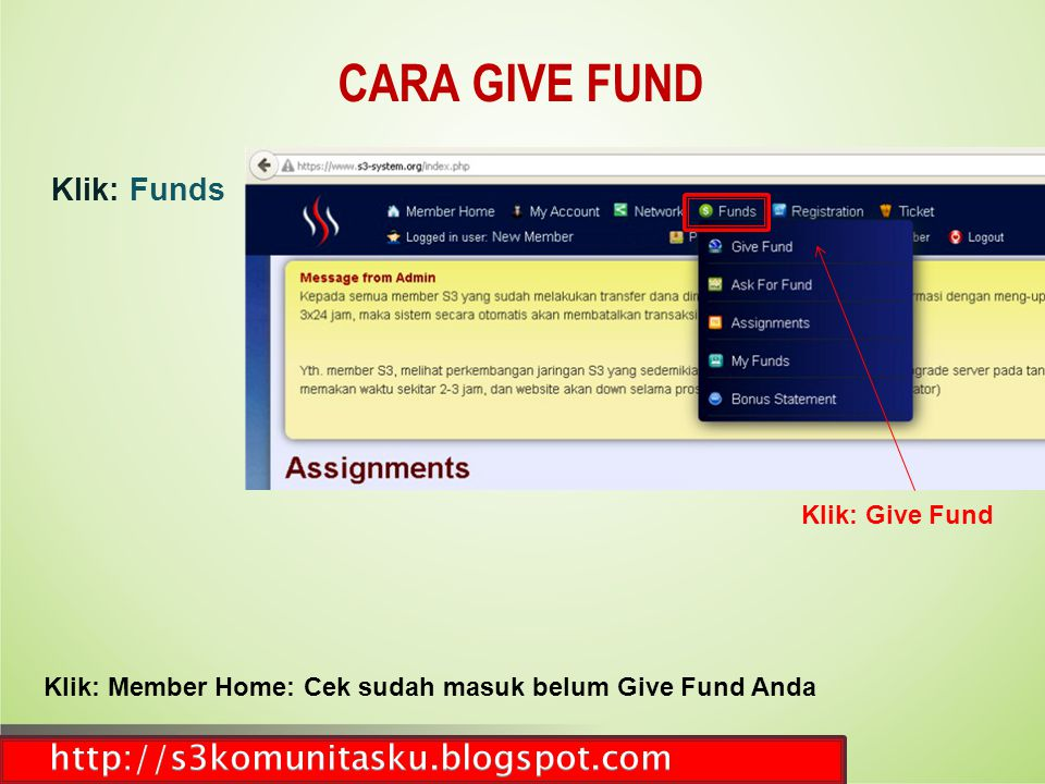 CARA GIVE FUND http://s3komunitasku.blogspot.com Klik: Funds