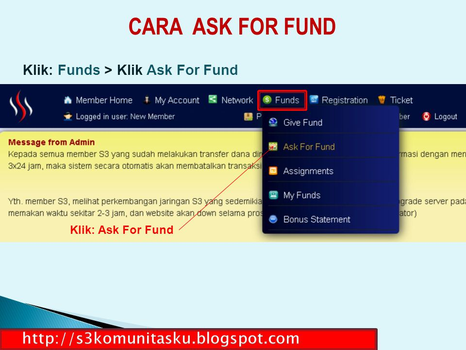 CARA ASK FOR FUND http://s3komunitasku.blogspot.com