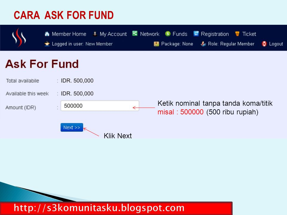 CARA ASK FOR FUND