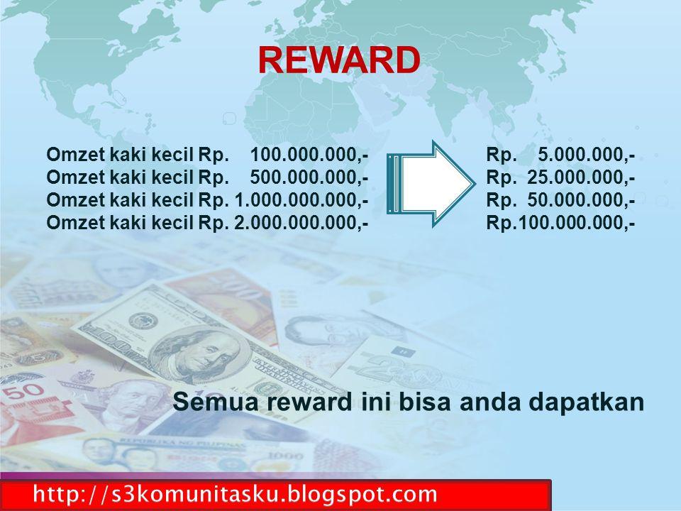 REWARD Semua reward ini bisa anda dapatkan