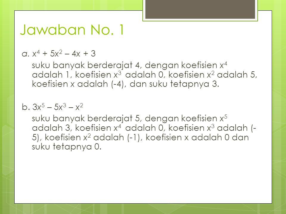 Jawaban No. 1