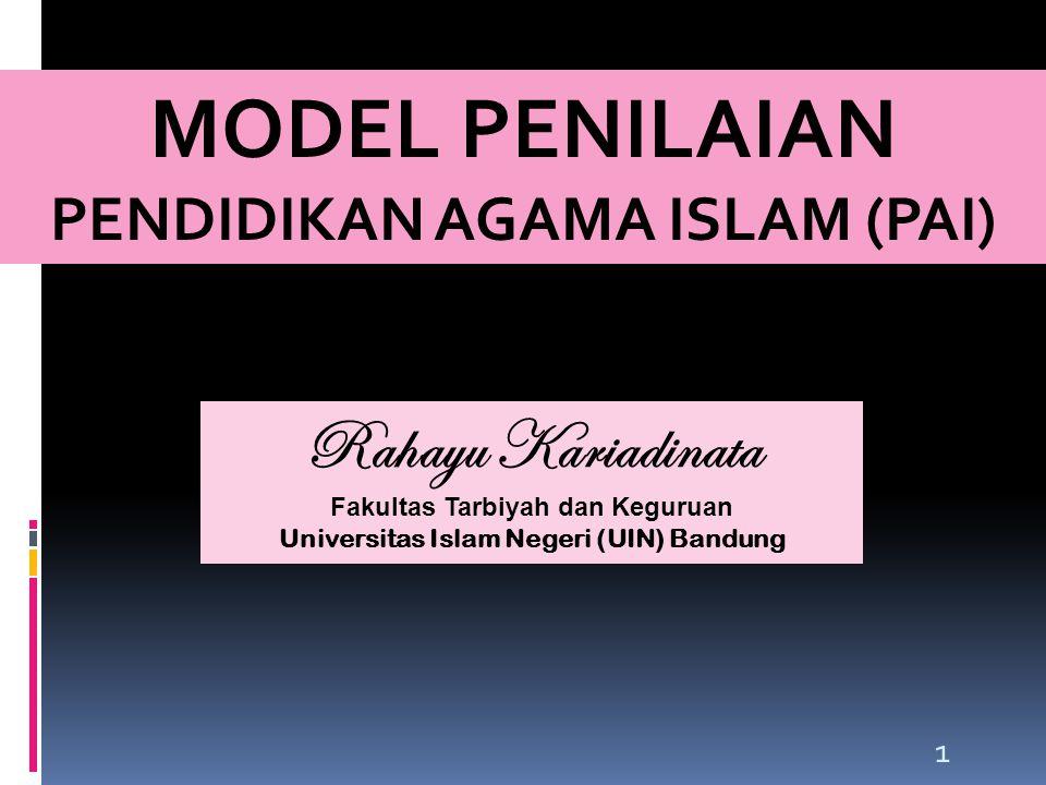 MODEL PENILAIAN PENDIDIKAN AGAMA ISLAM (PAI)
