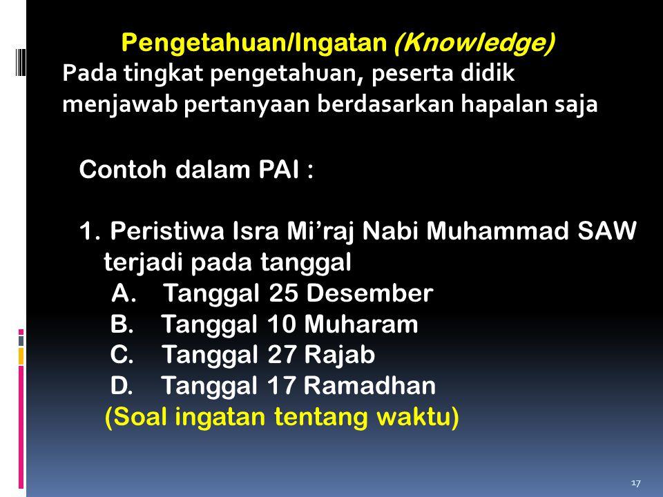 Pengetahuan/Ingatan (Knowledge)