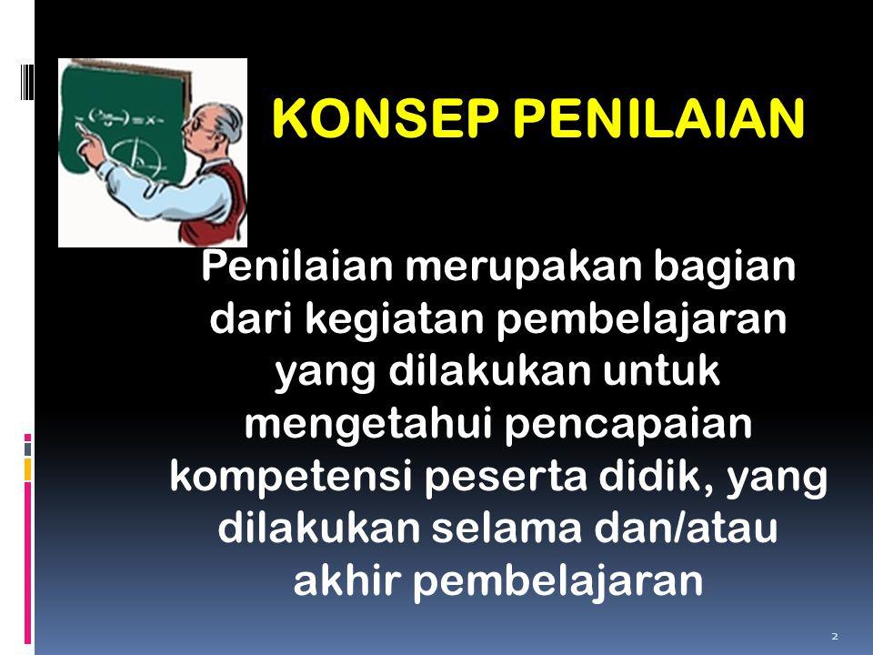 KONSEP PENILAIAN