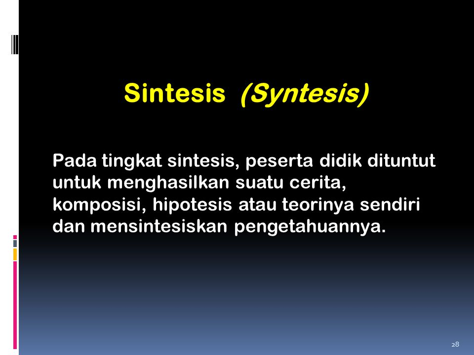 Sintesis (Syntesis)