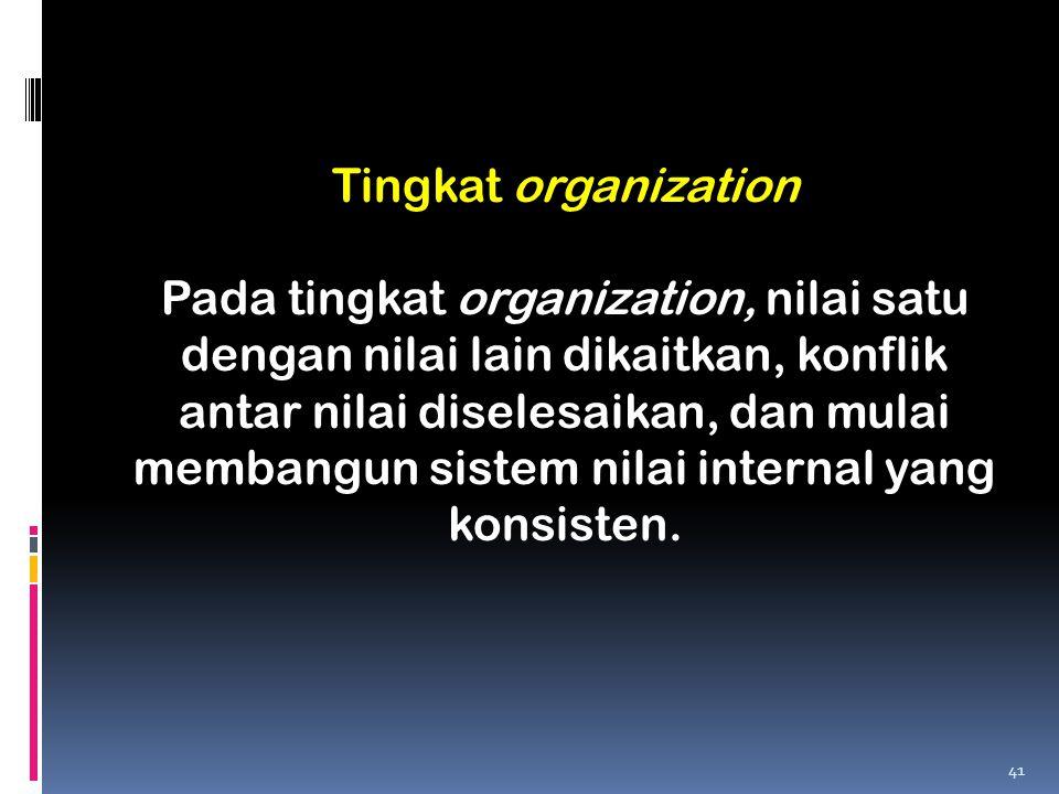 Tingkat organization