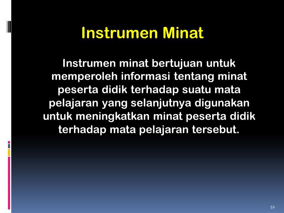 Instrumen Minat