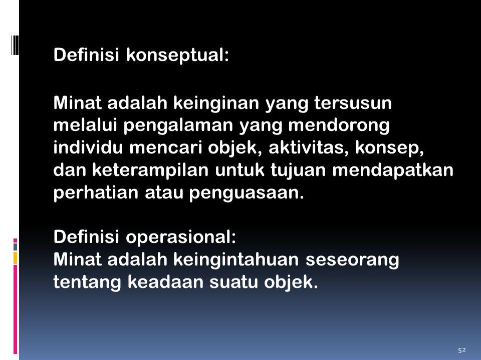 Definisi konseptual: