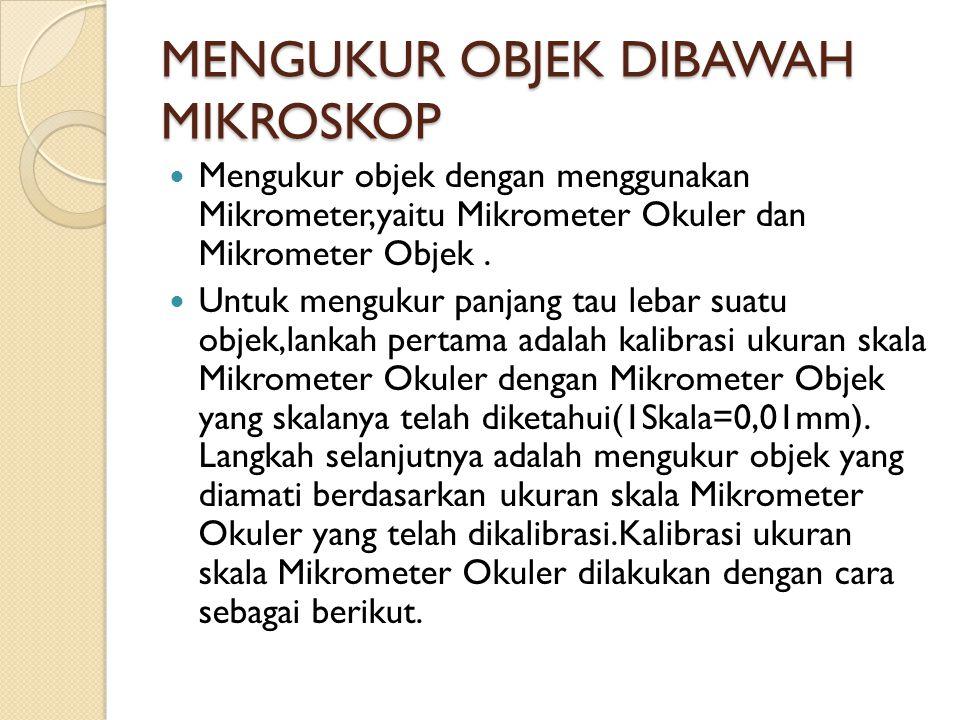 MENGUKUR OBJEK DIBAWAH MIKROSKOP