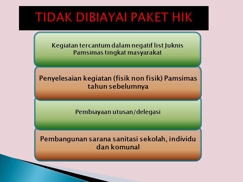 TIDAK DIBIAYAI PAKET HIK