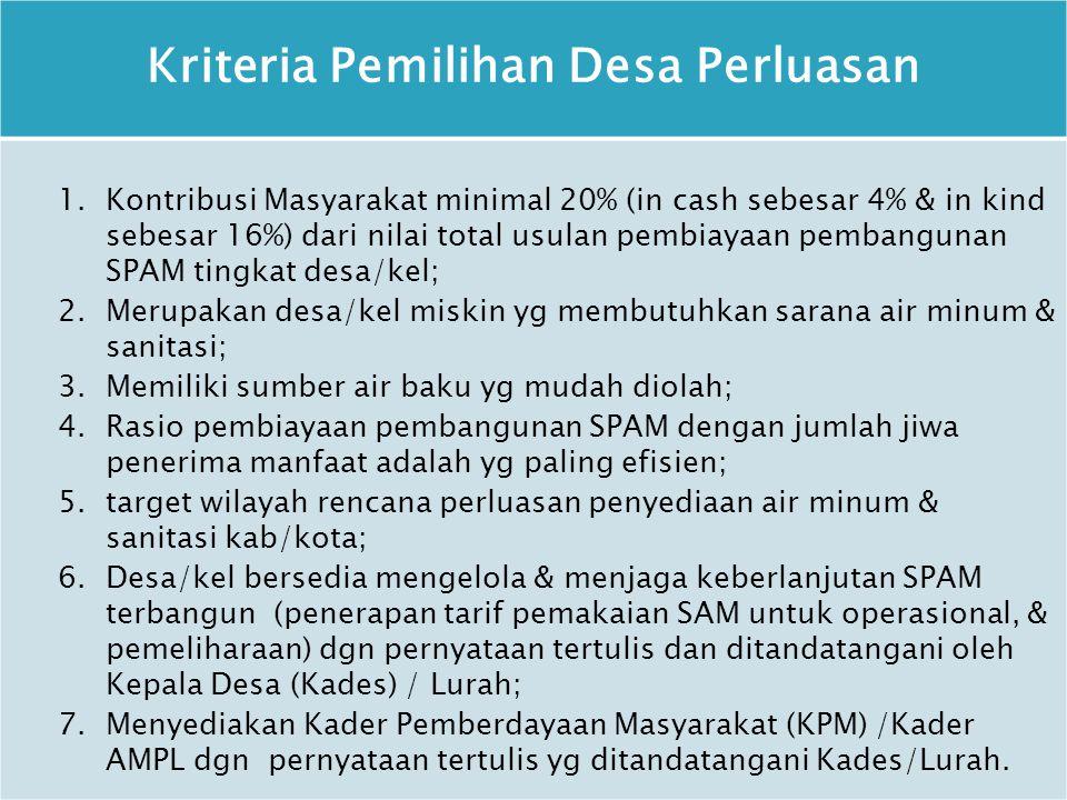 Kriteria Pemilihan Desa Perluasan