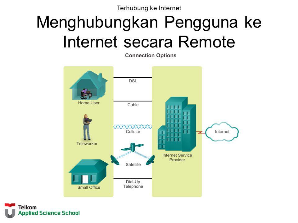Terhubung ke Internet Menghubungkan Pengguna ke Internet secara Remote