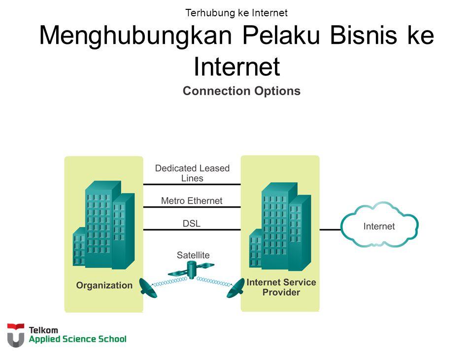 Terhubung ke Internet Menghubungkan Pelaku Bisnis ke Internet
